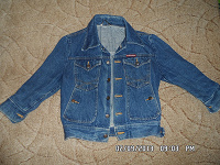Отдается в дар Джинсовая курточка рост 128