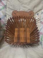 Отдается в дар Корзинка деревянная и рамка