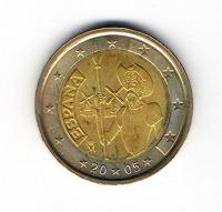 Отдается в дар 2 евро Испании 2005 год
