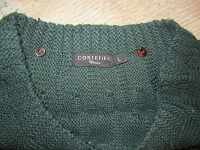 Отдается в дар Модный свитер темно-зеленый