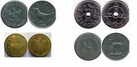 Отдается в дар 4 монетки 4 страны