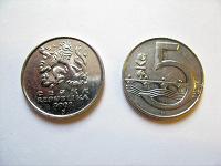 Отдается в дар монета Чешская Республика 5 крон