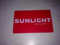 Отдается в дар пластиковая карта магазина Sunlight