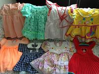 Отдается в дар Платья до года, башмачки для девочки