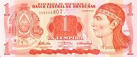 Отдается в дар Банкнота 1 лемпира Гондурас
