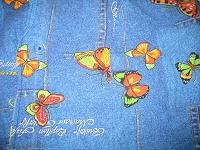 Отдается в дар Домашний летний костюм с бабочками 44-46 р.