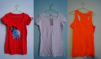 Отдается в дар Удлиненные футболки и майка — на высоких девушек :)