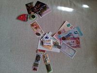 Отдается в дар Дар «неделька № 54» для коллекционеров))) (марки, монеты, календарики, открытка, жетон, боны, сахарки, мыло и магнит)