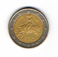 Отдается в дар Монета 2 евро Греции