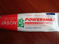 Отдается в дар Зубная паста Jason Natural, PowerSmile, Antiplaque & Whitening Paste, Powerful Peppermint