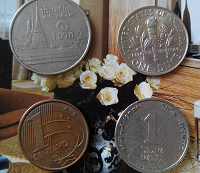 Отдается в дар монеты «один»