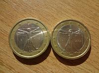 Отдается в дар евро с рисунком Да Винчи