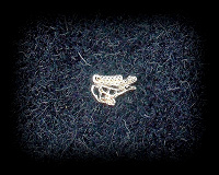 Отдается в дар Редкая брошка-значок: олень в скифо-сибирском зверином стиле