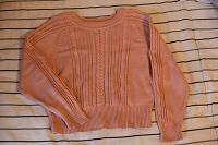 Отдается в дар Нежно-розовый и вязано-уютный свитер