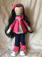 Отдается в дар Интерьерная текстильная кукленка