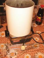 Отдается в дар электрошашлычница+жидкий дым