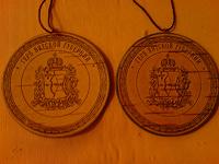 Отдается в дар берестяные «медальки»