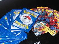 Отдается в дар Карточки Pokemon,Scooby-Doo и Человек-Паук.
