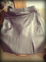 Отдается в дар Кожаная юбка, 44 размер