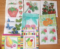 Отдается в дар Салфетки фруктово-ягодные