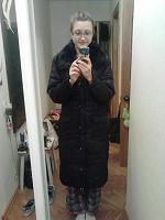 Отдается в дар Черный зимний пуховик без капюшона