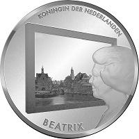 Отдается в дар Новогодний дар- монета 5 евро Нидерланды «Живопись Нидерландов»