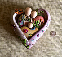 Отдается в дар Шкатулка-сердце