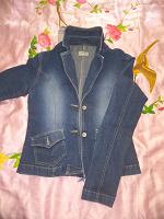 Отдается в дар Джинсовый пиджак Clockhouse