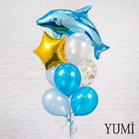 Отдается в дар Надувной шарик дельфин