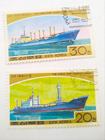 Отдается в дар Марки корабли Корея, 1988