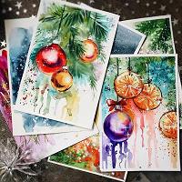Отдается в дар Открытки к Новому году своими руками
