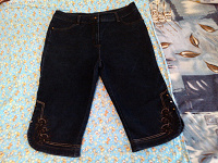 Отдается в дар Бриджи джинсовые женские, размер 48 — 50.