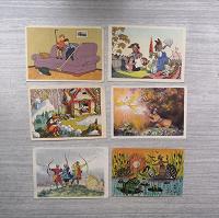 Отдается в дар Детские открытки.2 фото. Октябрь-21.