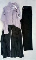 Отдается в дар Брюки-джинсы школьные и рубашки 128