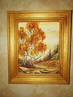 Отдается в дар Картина с янтарной крошкой