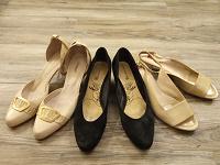 Отдается в дар Три пары женских туфель, р. 41 — 41.5, на узкую ногу