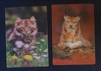 Отдается в дар Два календарика с животными