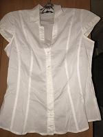 Отдается в дар Белая блузка — рубашка XS