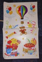 Отдается в дар Наклейки для дня рождения ребенка