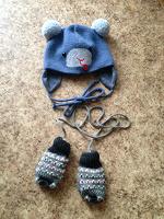 Отдается в дар Тёплая шапочка и варежки для малыша
