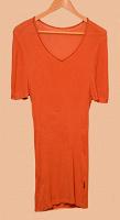 Отдается в дар Рыжее платье-футболка