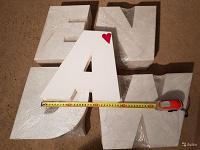 Отдается в дар Буквы пластиковые короба adenrw