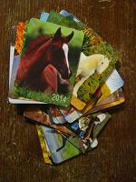 Отдается в дар Пачечка календариков с лошадьми