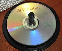Отдается в дар Чистые диски для записи Verbatim DVD-R
