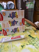 Отдается в дар Зубная паста детская с 3 х до 5 лет, колгейт