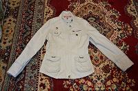 Отдается в дар Бежевая хлопковая курточка 42-44 размер