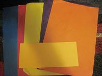 Отдается в дар Цветная бумага, картон