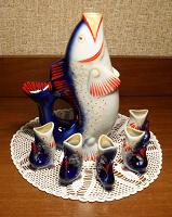 Отдается в дар Графин и стопки «Рыбки» СССР