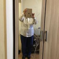 Отдается в дар Блузка с длинным рукавом белая шелковая 164 рост, 108 размер