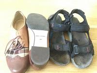 Отдается в дар Детская обувь. Полуботинки и сандалии.